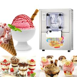 110V Commercial Hard Ice Cream Machine 20L/h Stainless Steel