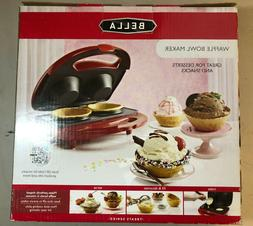 BELLA 13906 Waffle Bowl Maker, Red Multi-Colored