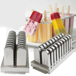 US Stainless Steel Ice Pop Molds Ice Cream Ice Lolly Popsicl