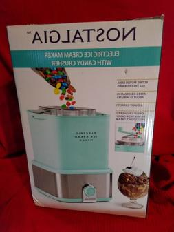 Nostalgia 2 Qt. Electric Ice Cream Maker with Candy Crusher