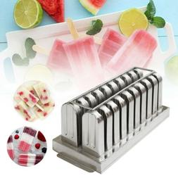 20pcs Stainless Steel Molds Ice Lolly Popsicle Ice Cream Sti