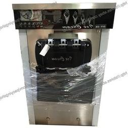 22L/H Stainless Steel 3 Flavor Table Top Soft Ice Cream Mach