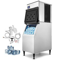350 Lbs/24H Commercial Ice Maker Machine Ice Cream Stores Wa
