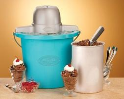 4-Quart Bucket Nostalgic Electric Ice Cream Frozen Yogurt Ma