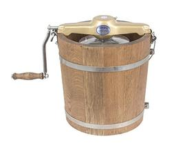 4 qt Country Ice Cream Maker - Classic Wooden Tub - Hand Cra