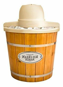 Nostalgia Electrics 4 Qt Plastic Bucket with Wood Slats Elec