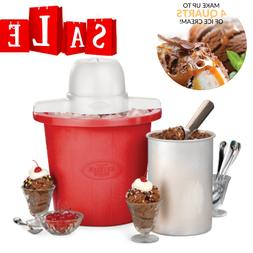 4-Quart Electric Ice Cream Maker Machine Yogurt Gelato Churn