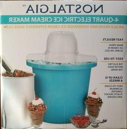 4-Quart Electric Ice Cream Maker Machine Frozen Yogurt Gelat