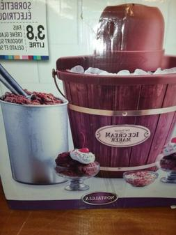 Nostalgia 4-Quart Electric Ice Cream Maker new in box.