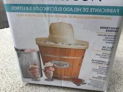4 quart electric wood bucket ice cream
