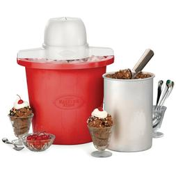 4 quart red bucket electric ice cream
