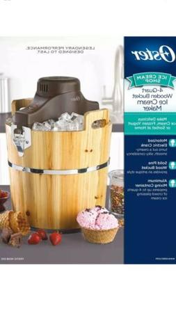 Oster 4-Quart Wooden Bucket Ice Cream Maker NEW