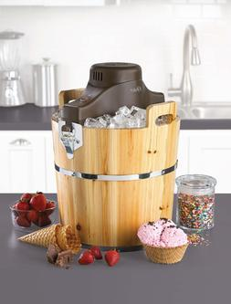 Oster 4-Quart Wooden Bucket Ice Cream Maker FRSTIC-WDB-001 F