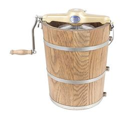6 qt Country Ice Cream Maker - Classic Wooden Tub - Hand Cra