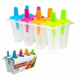 8 Freezer Ice Pop Maker Mold Popsicle Dessert Ice Cream Froz