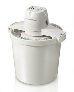 Hamilton Beach 68330N 4-Quart Automatic Ice-Cream Maker,Crea