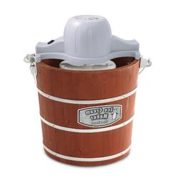West Bend Wooden Ice Cream Maker, 4-Quart, Brown