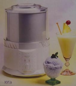Toastmaster Automatic Ice Cream Maker Electric 1 Qt Capacity