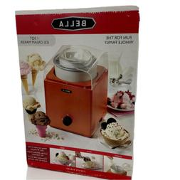 Bella 1.5 Quarts Ice Cream Maker Orange