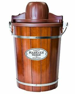 Brand New Nostalgia ICMP600WD 6-Quart Wood Bucket Ice Cream
