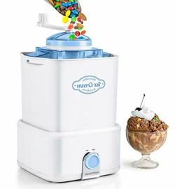 Nostalgia CICM2WB Electric Ice Cream Maker with with Candy C