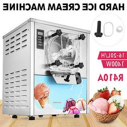 Commercial 20L/H Frozen Hard Ice Cream Machine 1 Flavor Ice