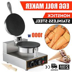 Commercial 110v Electric Nonstick Ice Cream Waffle Cone Bake