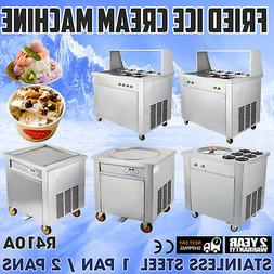 Commercial Fried Ice Cream Machine 304 Stainless Steel Froze