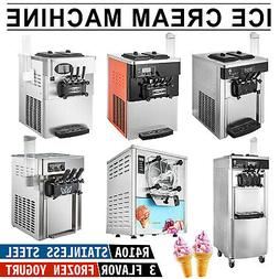 Commercial Mix Flavor Soft / Hard Ice Cream Machine Maker Ic