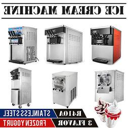 Commercial Mix Flavor Ice Cream Machine Yogurt Soft / Hard R