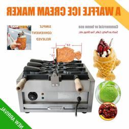 Commercial Nonstick Electric 3pcs Fish Waffle Ice Cream Taiy