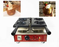 commercial nonstick electric ice cream taiyaki bear