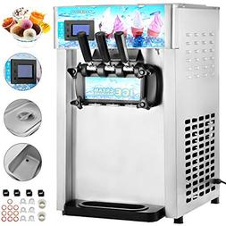 VEVOR Commercial Soft Ice Cream Machine 3 Flavor 4.75Gal/H Y
