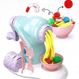 DIY Color Clay Manual Maker Machine Kit for Kids, Ice Cream
