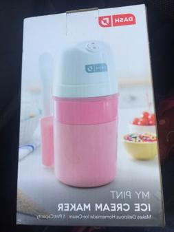 DASH DPIC100GBPK04 My Pint Ice Cream Maker, One, Pink