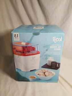 Koji Electric Freezer Bowl Ice Cream Maker 1.5qt  White Read
