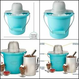 Electric Ice Cream Kit Maker with Easy Carry Handle 4 QT Alu