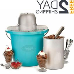 Electric Ice Cream Maker Freezer Home Made Frozen Yogurt Mac