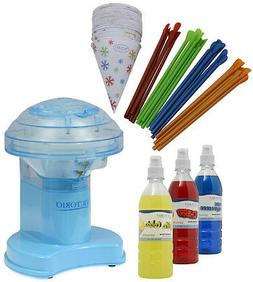 Victorio Electric Snow Cone Machine with Accessories Pack