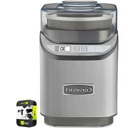 Cuisinart Electronic Ice Cream Maker Brushed Chrome with Ext