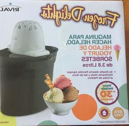 Rival Frozen Delights 4 Quart Ice Cream, Frozen Yogurt, & So