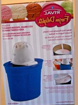 Rival Frozen Delights Ice Cream / Yogurt and Sorbet Maker