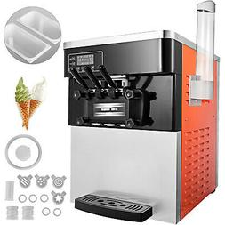 Commercial Soft Ice Cream Making Machine 3-Flavor Countertop