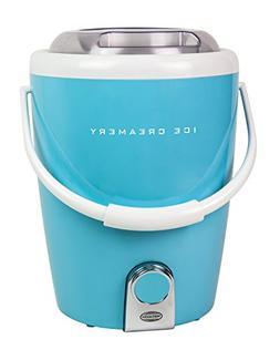 Nostalgia GICM400BDBLUE 4-Quart Gourmet Ice Creamery with In