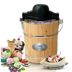 Elite Gourmet Old-Fashioned Ice Cream Maker