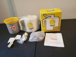 Donvier Half-Pint Manual Ice Cream Maker Non-electric Made i