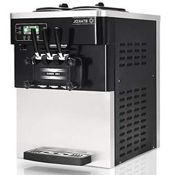 COSTWAY Ice Cream Machine Commercial Automatic 2200W 20-28L/