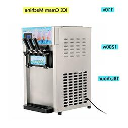 Zinnor Ice Cream Machine,Commercial Small Desktop Soft Ice C