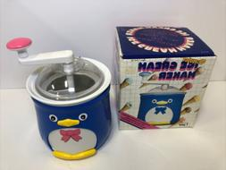 Donvier Ice Cream Maker 1 Pint Chilly the Penguin Hand Crank