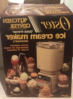 OSTER ICE CREAM MAKER ACCESORY KITCHEN CENTER QUICK FREEZE 7